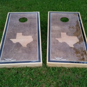 Weatherproof Texas Cornhole Boards