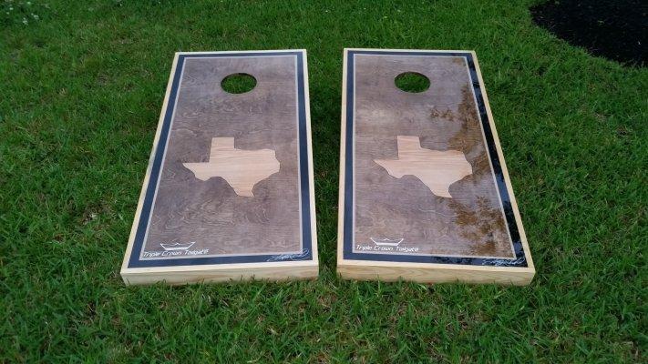 Weatherproof Texas Cornhole Boards