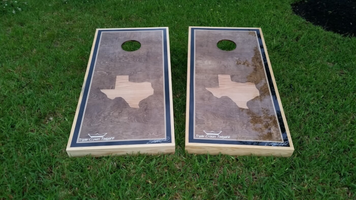 Waterproof Texas Cornhole Boards Triple Crown Tailgate