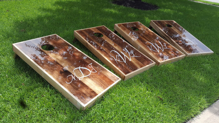 Solid Wood Black Walnut Cornhole Boards