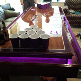 Custom TCU Beer Bong Table