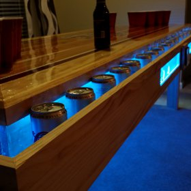 Custom Aggie Beer Pong Table With LED Lights