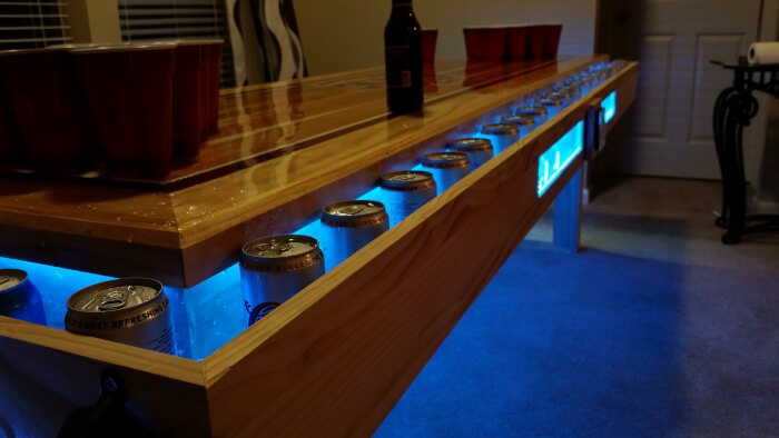 custom aggie beer pong table with led lights triple crown tailgate rh triplecrowntailgate com custom beer pong table uk custom made beer pong tables