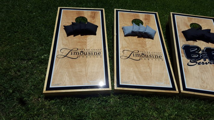 Texas Coast Limousine Service Cornhole Boards