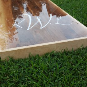 Premium Weatherproof Solid Wood Cornhole Boards