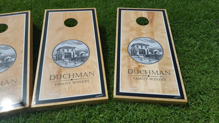 Duchman Family Winery Cornhole Boards
