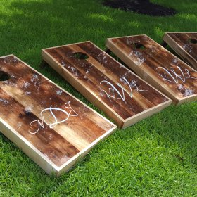 Black Walnut Wedding Boards w/ Initials