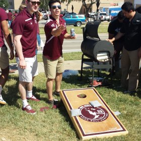 SB Nation Good Bull Hunting Cornhole Boards