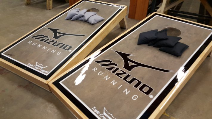 Mizuno Running Cornhole Boards