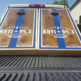 KHYI 95.3 Cornhole Boards