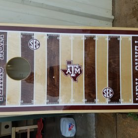 Kyle Field Custom Cornhole Board