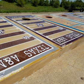 Kyle Field Custom Paint Cornhole Boards