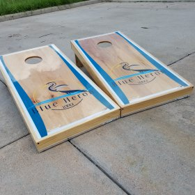 Blue Heron Lodge Cornhole Boards