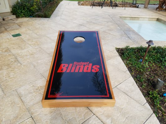 """You're Business Logo"" Cornhole Boards"