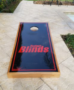 Budget Blinds Cornhole Board