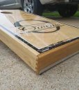 Owens Family Wedding Cornhole Board w/ Dove Tail Corner
