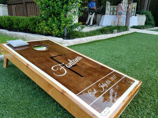 July 14 Wedding Cornhole Board