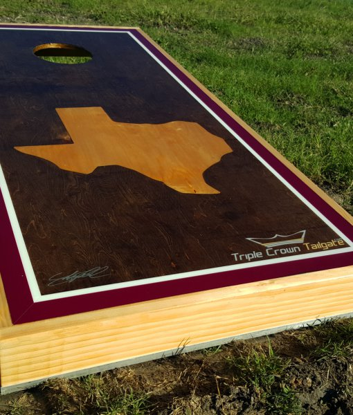 Maroon Texas Oak Bag Boards