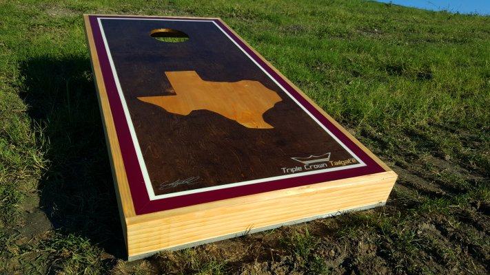 Maroon Texas Oak Bag Boards
