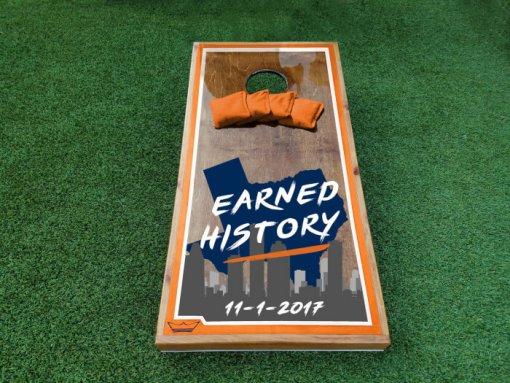 Astros Earned History Cornhole Boards