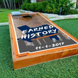 Astros Cornhole Boards Earned History 11/1/2017
